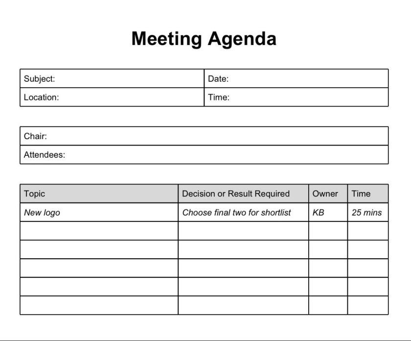 Printable Template Of Meeting Minutes Formal Meeting Minutes Meeting Minutes Template